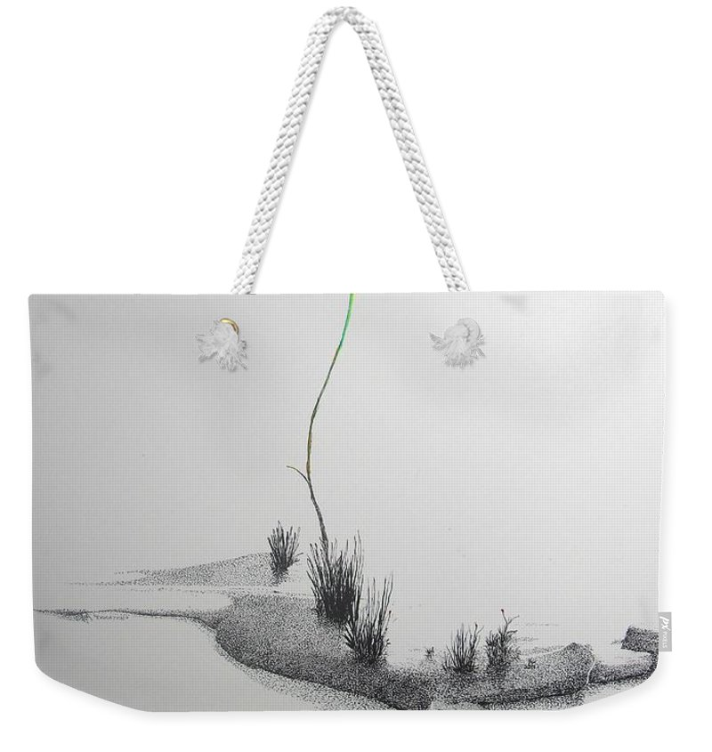 Landscape Weekender Tote Bag featuring the painting Evocation by A Robert Malcom