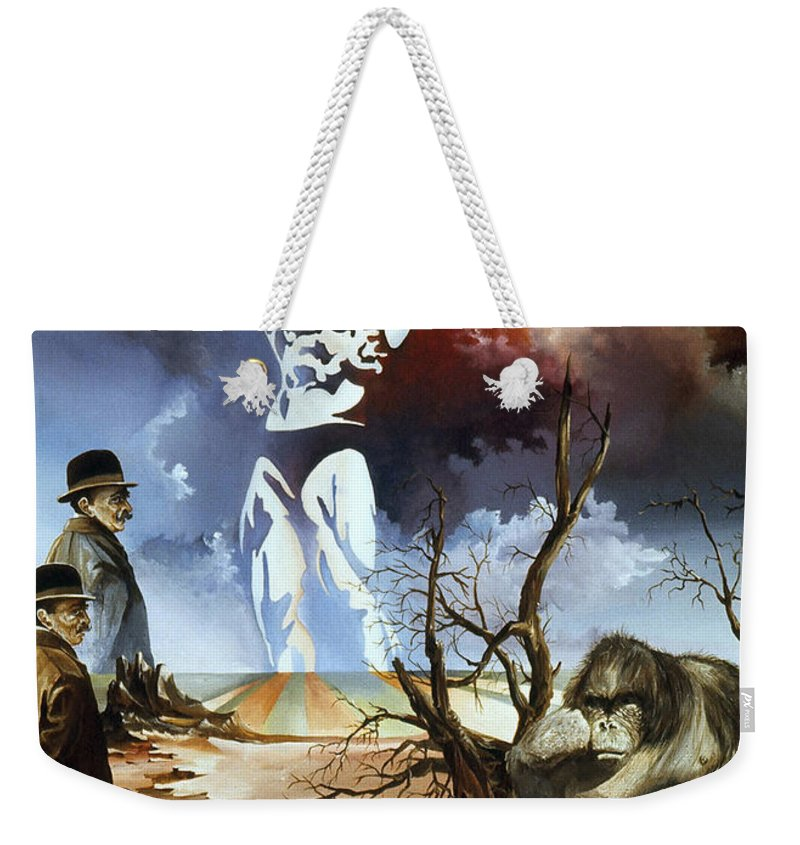 Surrealism Weekender Tote Bag featuring the painting Evolution by Otto Rapp