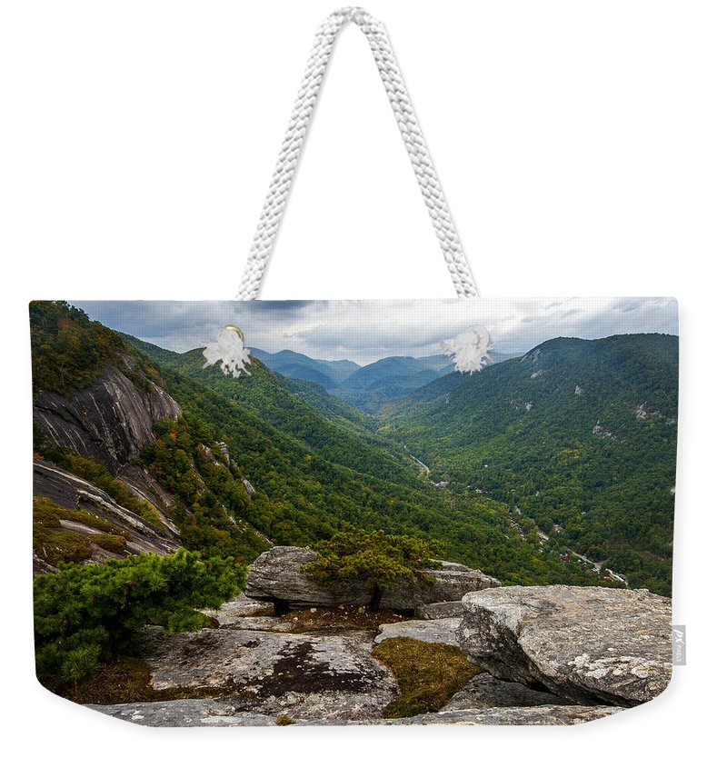 Terry Deluco Weekender Tote Bag featuring the photograph Exclamation Point North Carolina by Terry DeLuco