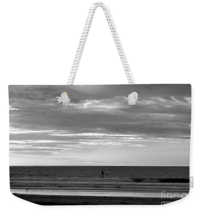 La Jolla Weekender Tote Bag featuring the photograph Existential Contemplation by Samantha Glaze