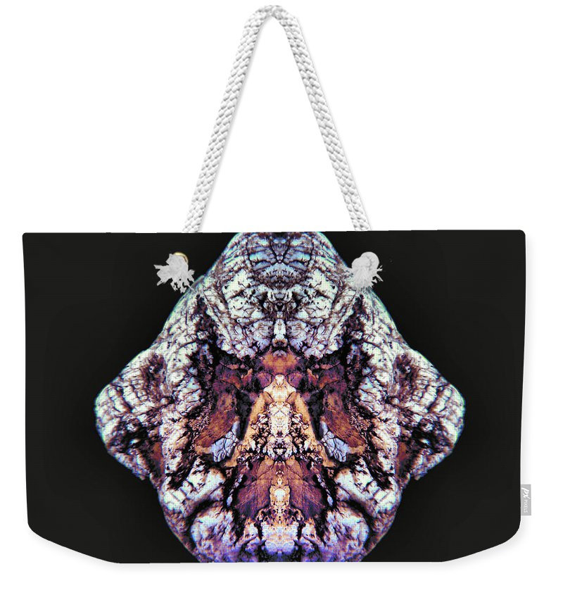 Pictolith Weekender Tote Bag featuring the photograph Exit Angel Wings by James Christiansen