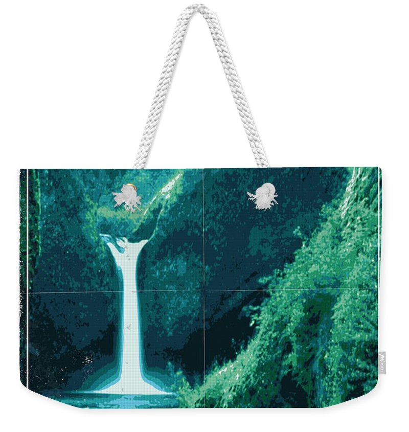 Space Weekender Tote Bag featuring the digital art Exoplanet 04 Travel Poster Fomalhaut B by Chungkong Art