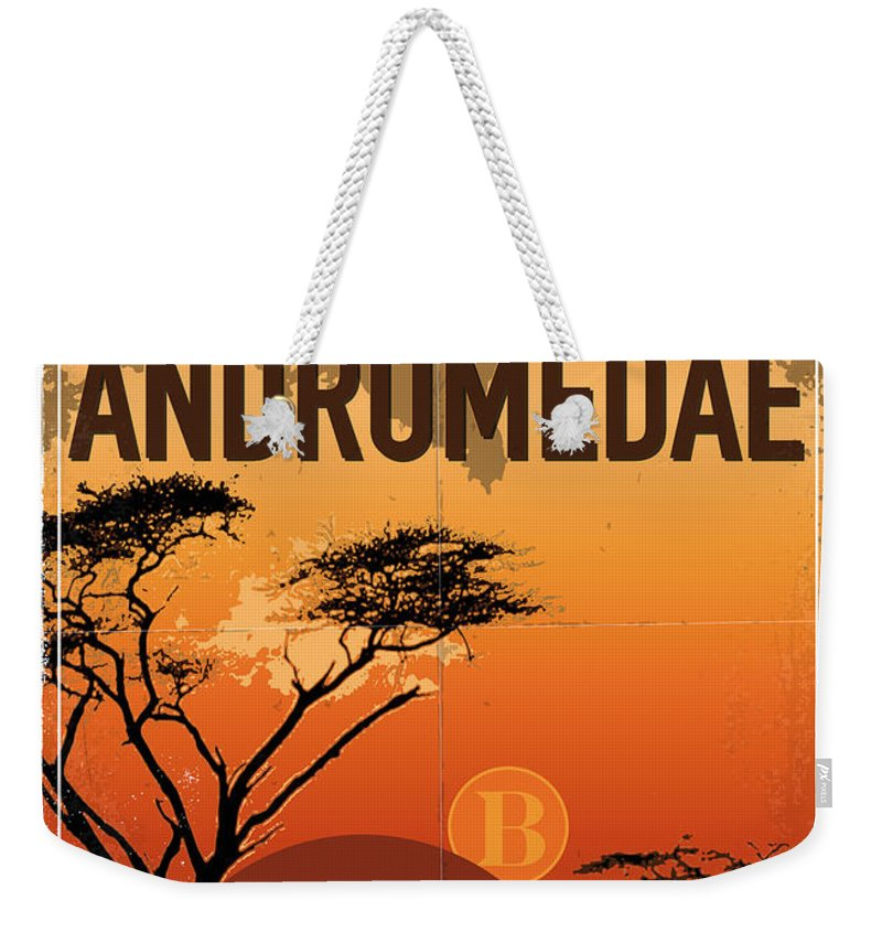Space Weekender Tote Bag featuring the digital art Exoplanet 06 Travel Poster Upsilon Andromedae 4 by Chungkong Art