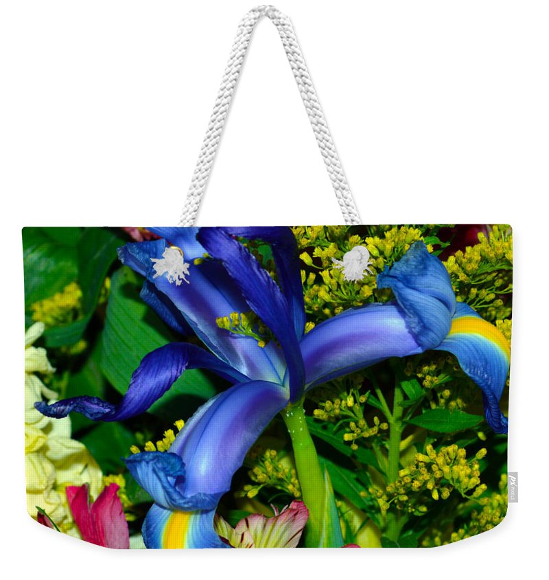 Exotic Weekender Tote Bag featuring the photograph Exotic Blue by Brent Dolliver