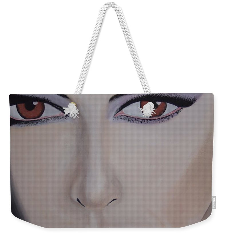 Exotic Weekender Tote Bag featuring the painting Exotica by Dean Stephens