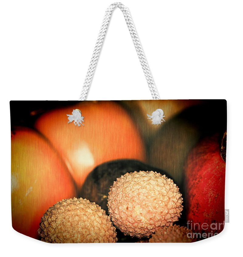 Exotique Weekender Tote Bag featuring the photograph Exotique 3 by Steve Purnell