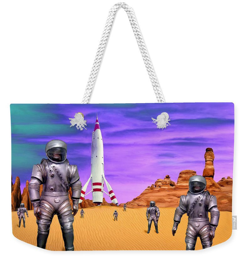 Expedition Weekender Tote Bag featuring the painting Expedition by Dominic Piperata