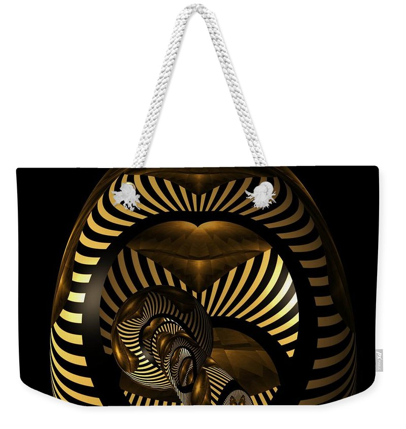 Exploration Into The Unknown Weekender Tote Bag featuring the digital art Exploration Into The Unknown by Barbara St Jean