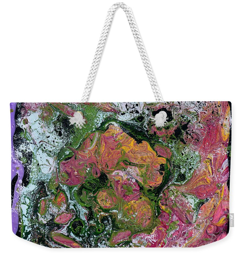 Exploring Weekender Tote Bag featuring the painting Exploring The Universe by Donna Blackhall