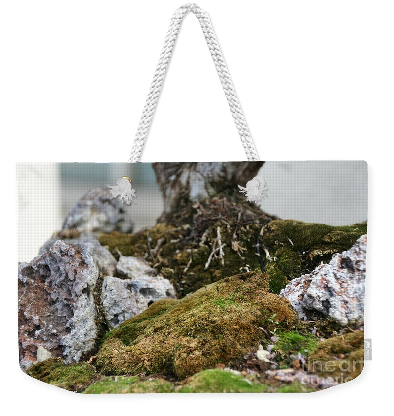 Bonsai Weekender Tote Bag featuring the photograph Exposed Roots by Susan Herber
