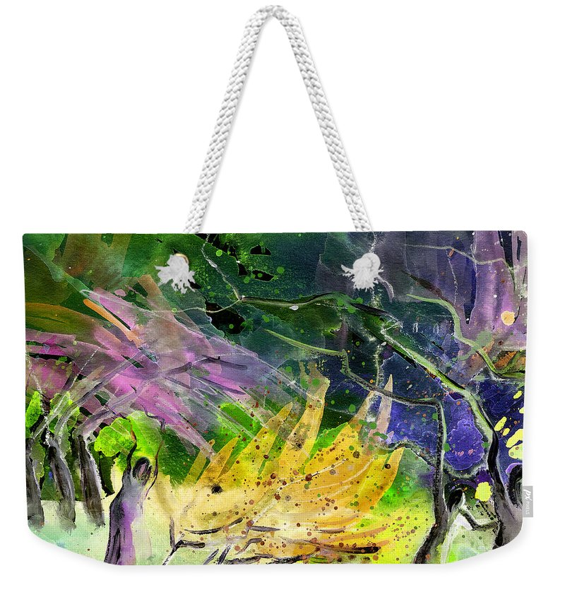 Fantasy Weekender Tote Bag featuring the painting Expulsion by Miki De Goodaboom