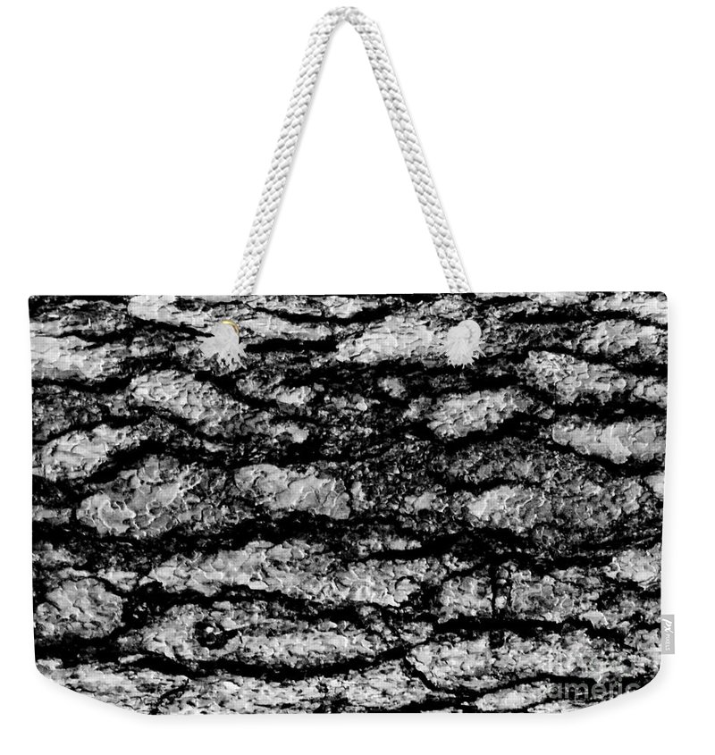 Digital Black And White Photo Weekender Tote Bag featuring the digital art Exterior Skin Bw by Tim Richards