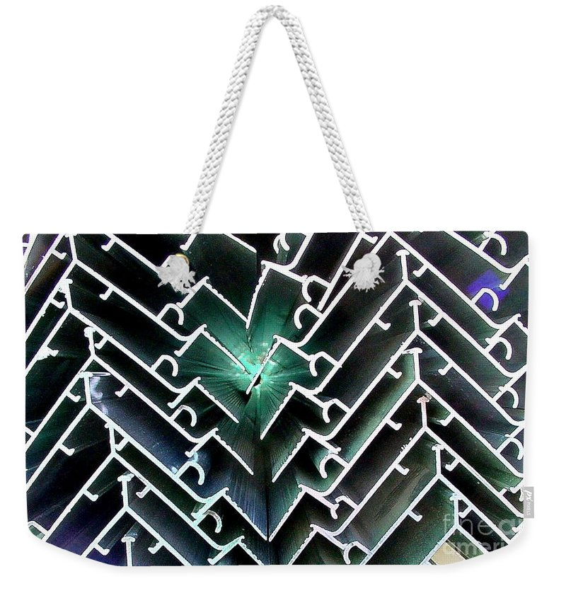 Digital Image Weekender Tote Bag featuring the photograph Extrusions by Ron Bissett