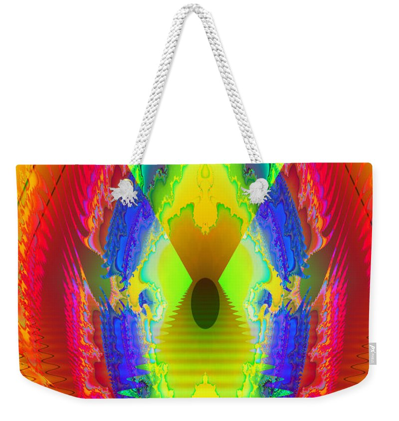 Fractal Art Weekender Tote Bag featuring the digital art Exuberance by Mario Carini