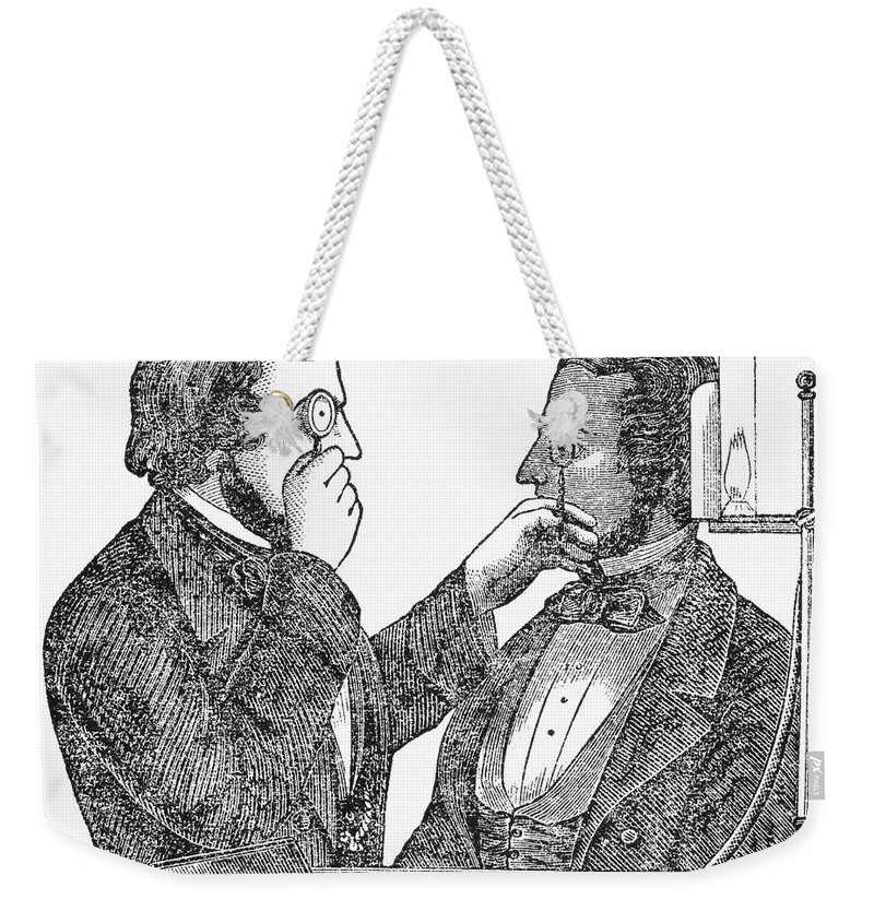 1840 Weekender Tote Bag featuring the photograph Eye Doctor, C1840 by Granger