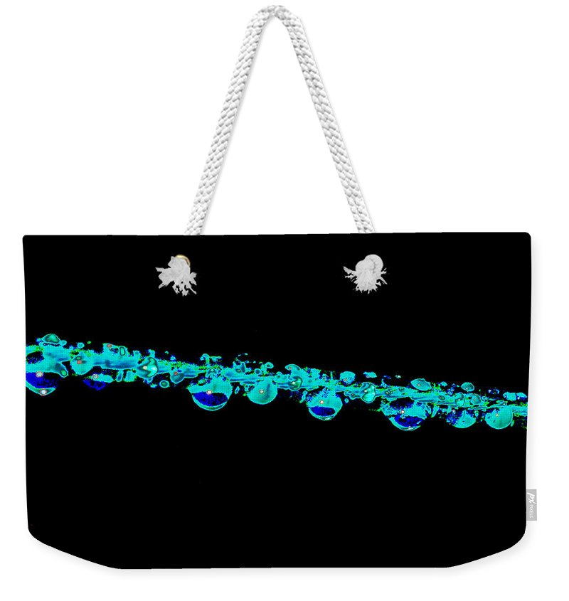 Eye Weekender Tote Bag featuring the digital art Eye Drops by Carol Lynch