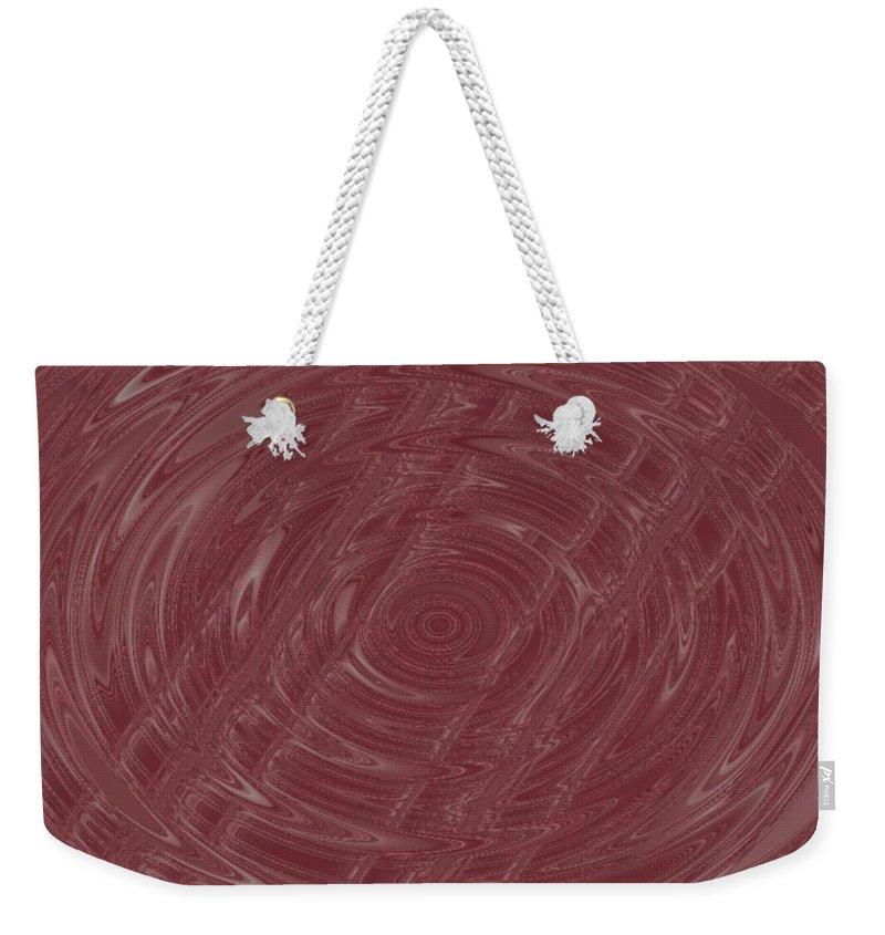 Abstract Weekender Tote Bag featuring the digital art Eye In Vortex by Pharris Art