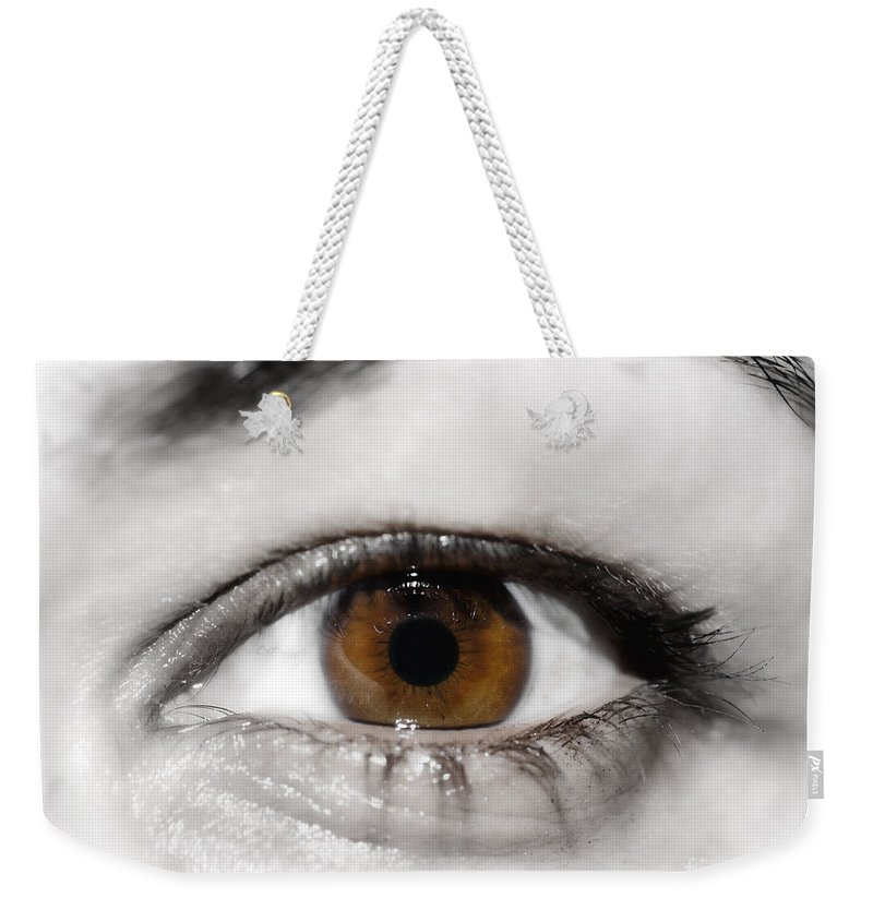 Eye Weekender Tote Bag featuring the photograph Eye by Mats Silvan