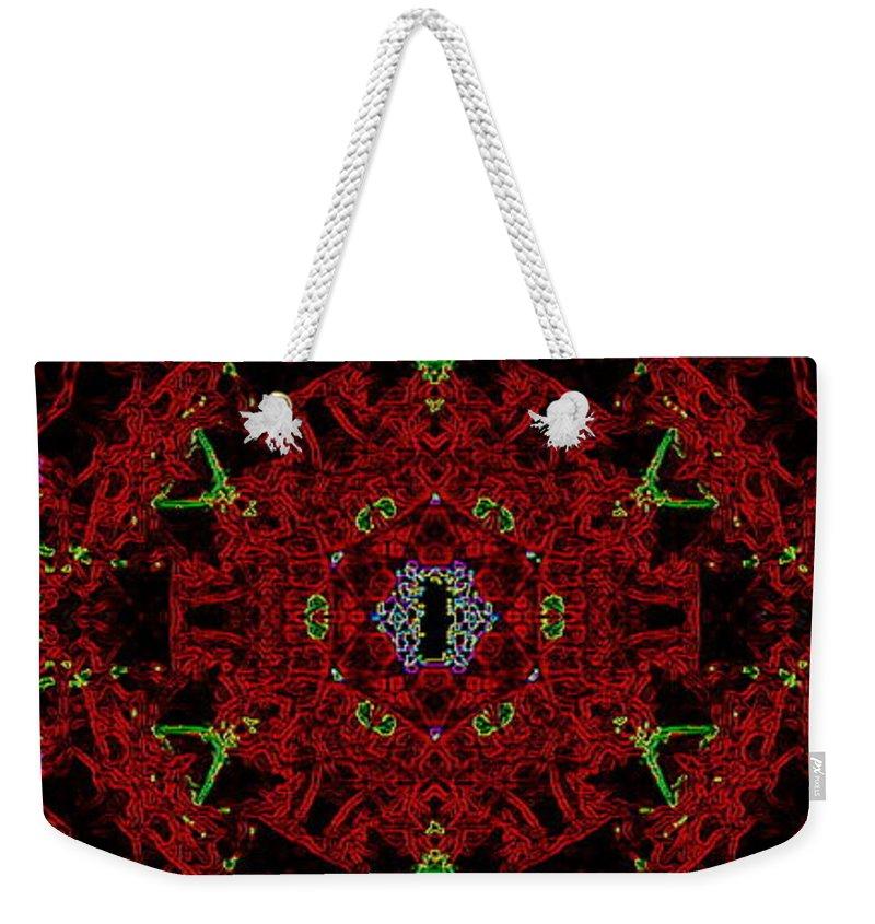 Eye Weekender Tote Bag featuring the painting Eye Of Cthulhu by Kume Bryant