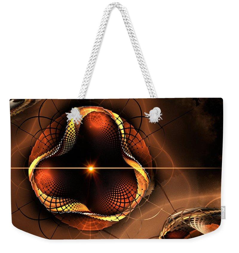 Phil Sadler Weekender Tote Bag featuring the digital art Eye Of The Bug... by Phil Sadler