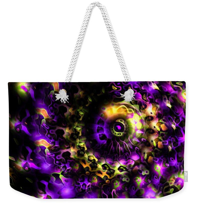 Eye Weekender Tote Bag featuring the digital art Eye Of The Swirling Dream by Hakon Soreide