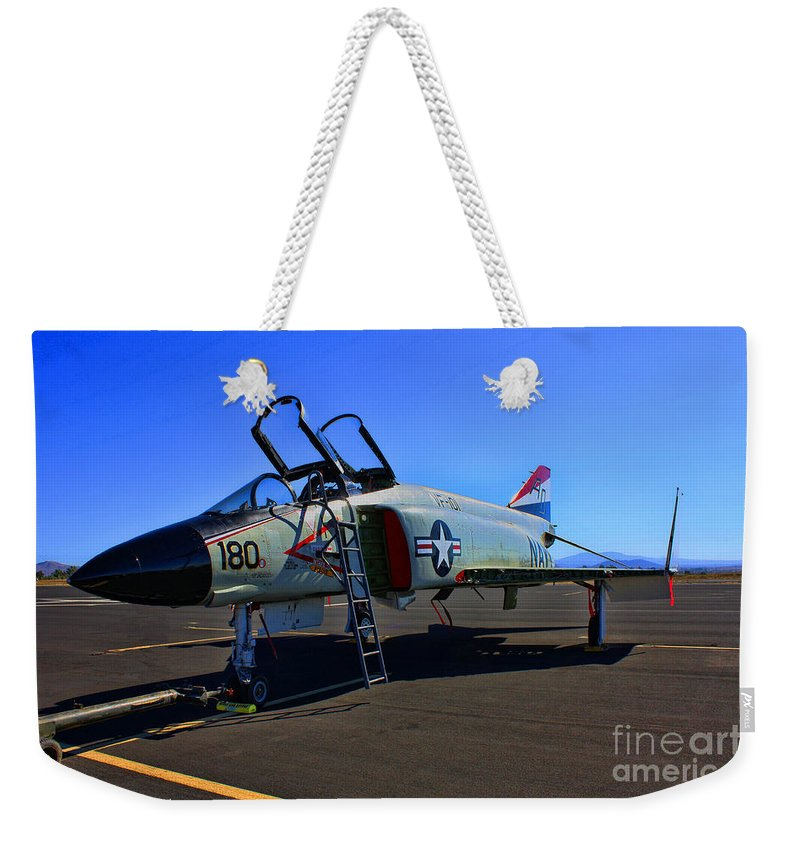 Mcdonnell Douglas F-4 Phantom 2 Weekender Tote Bag featuring the photograph F-4 Phantom II No. 11 by Tommy Anderson