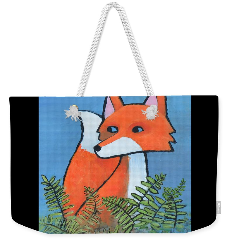 Fox Weekender Tote Bag featuring the painting F Is For Fox by Melissa Peterson