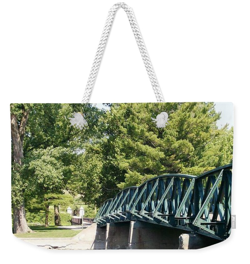Fabyan Weekender Tote Bag featuring the photograph Fabyan Bridge by Laurie Eve Loftin