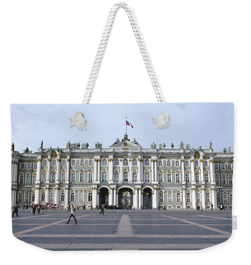 Photography Weekender Tote Bag featuring the photograph Facade Of A Museum, State Hermitage by Panoramic Images