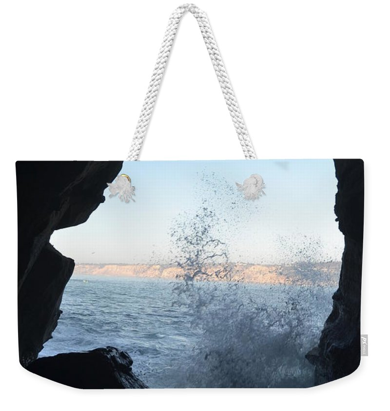 La Jolla Weekender Tote Bag featuring the photograph Face Of La Jolla by Christine Owens