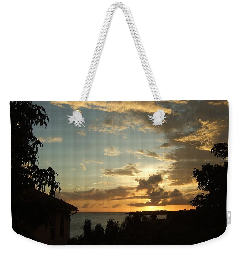 Weekender Tote Bag featuring the photograph Faces In The Clouds by Katerina Naumenko