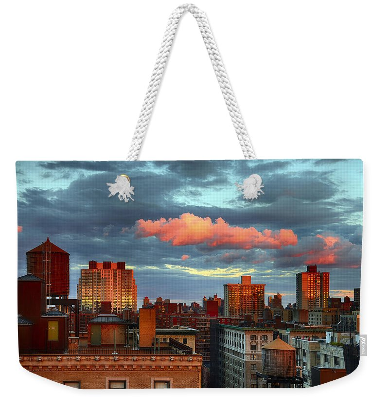 Tranquility Weekender Tote Bag featuring the photograph Facing East by Joe Josephs Photography
