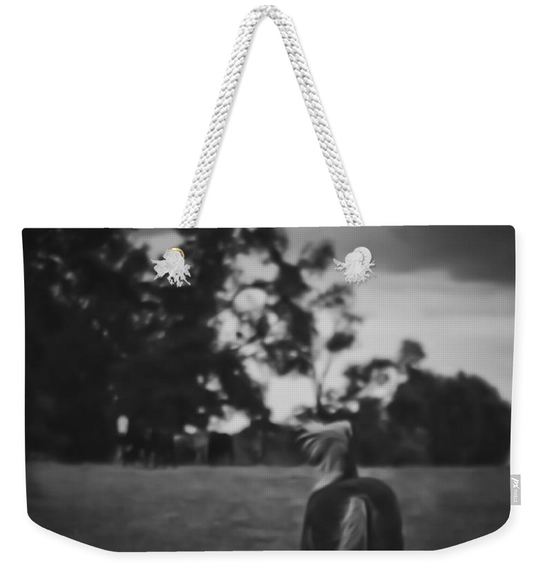 Cattle Weekender Tote Bag featuring the photograph Facing The Storm by Kim Henderson