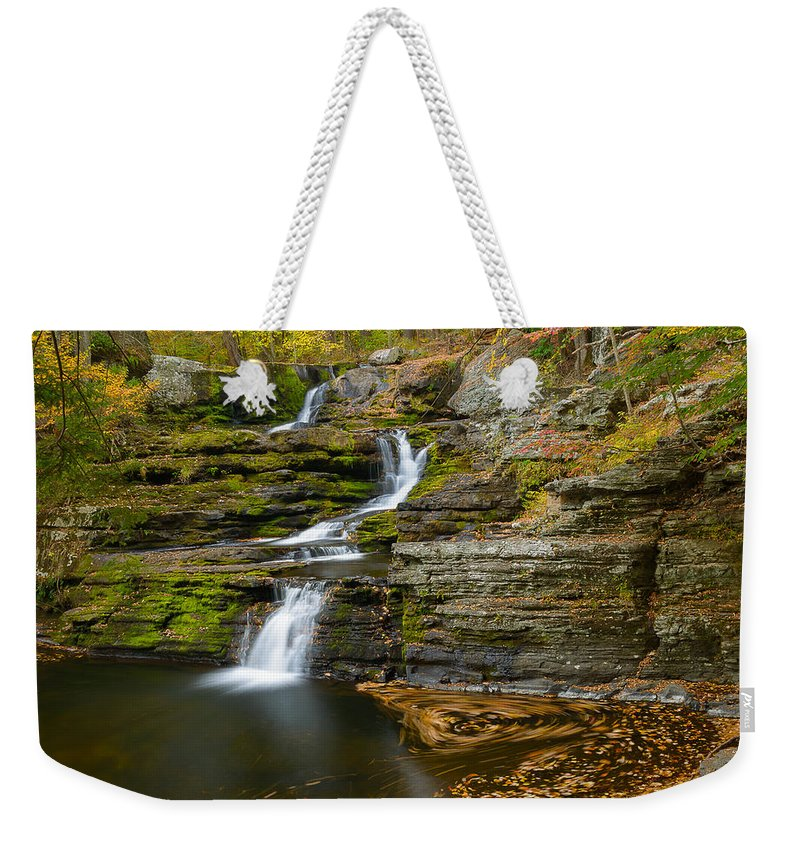 Factory Falls Weekender Tote Bag featuring the photograph Factory Falls by Mark Robert Rogers