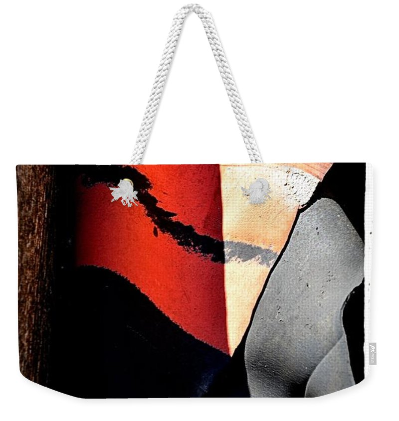 Abstract Weekender Tote Bag featuring the photograph Fade To Gray by Lauren Leigh Hunter Fine Art Photography