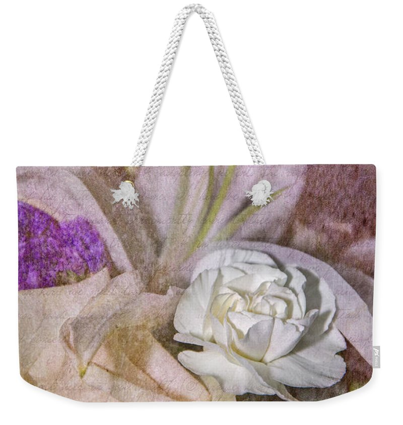 Faded Beauty Weekender Tote Bag featuring the photograph Faded Beauty by Susan McMenamin
