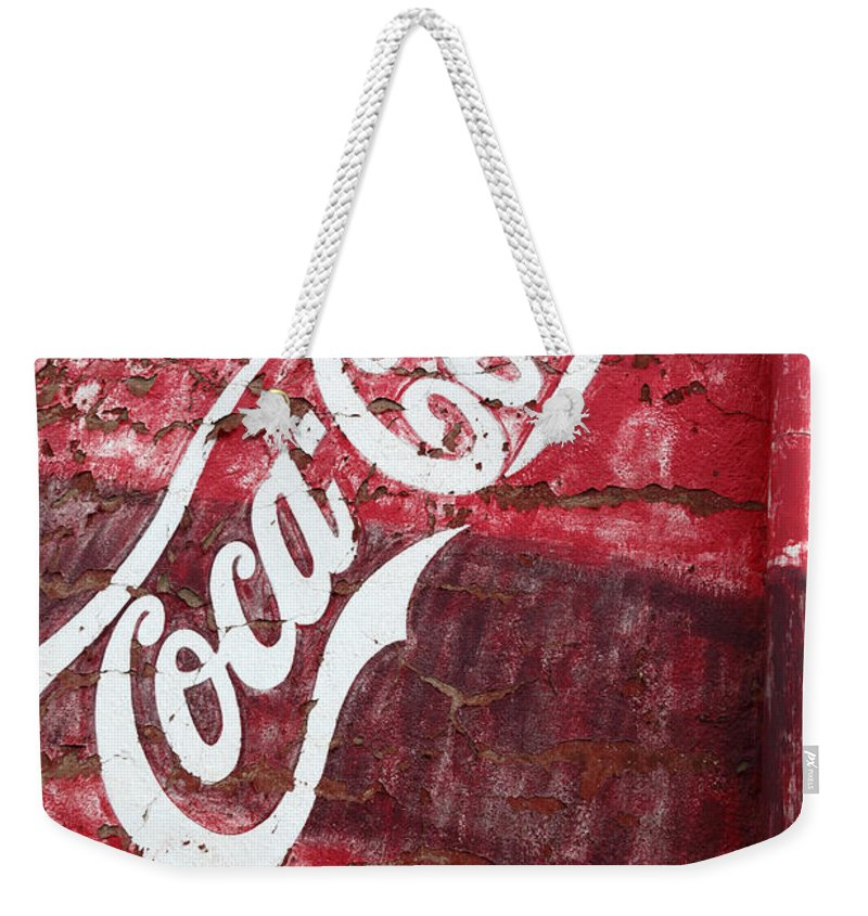 America Weekender Tote Bag featuring the photograph Faded Coca Cola Mural 2 by James Brunker