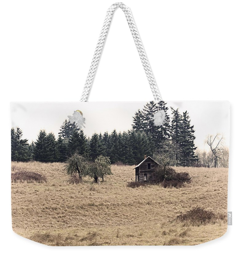 Farm Weekender Tote Bag featuring the photograph Faded Memories by Karen Ulvestad
