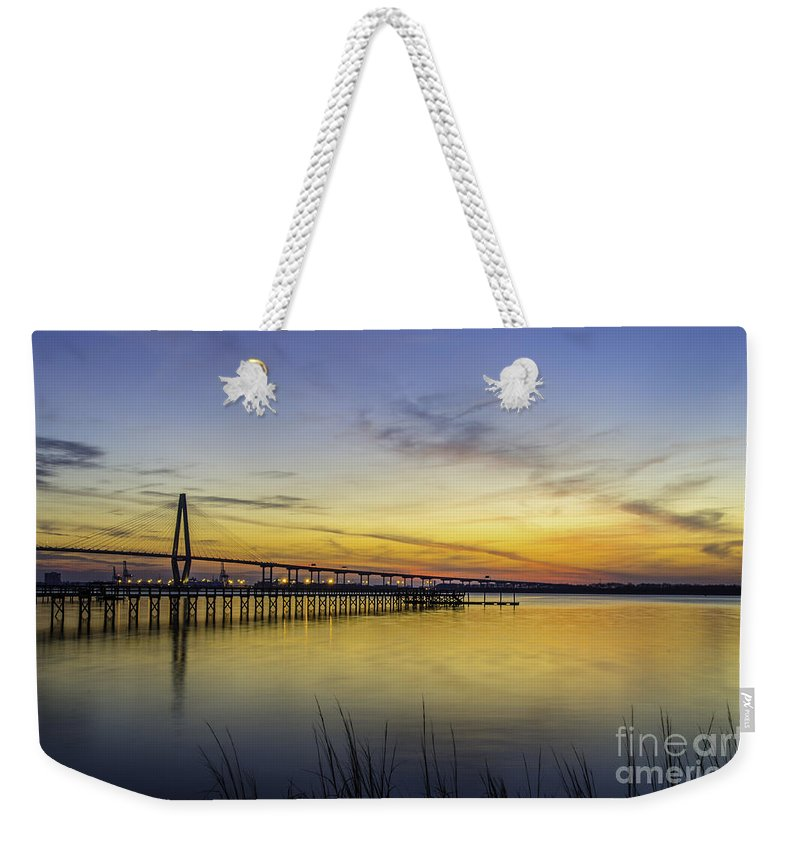 Sunset Weekender Tote Bag featuring the photograph Fading Colors by Dale Powell