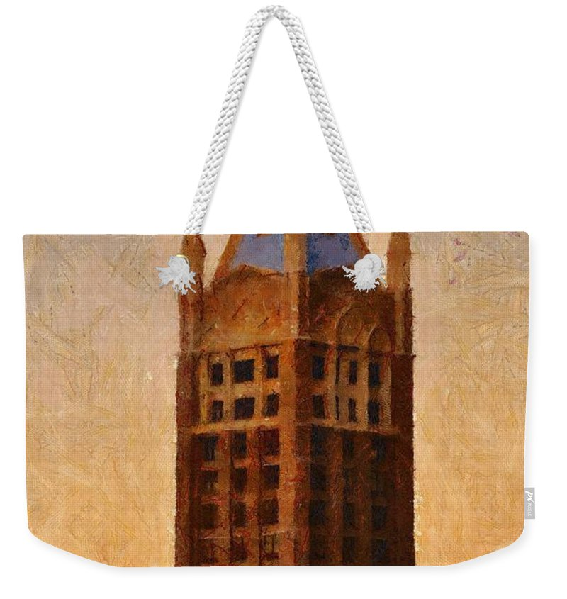 Architecture Weekender Tote Bag featuring the painting Fading Slowly Into Night by Jeffrey Kolker