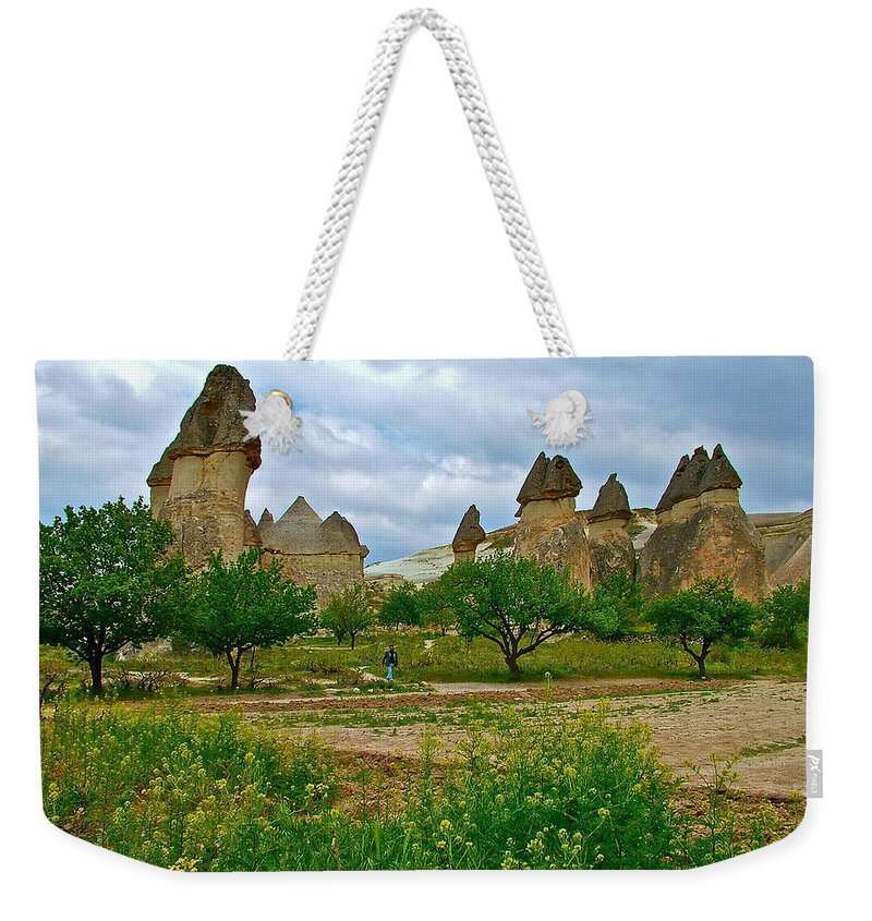 Fairy Chimneys Weekender Tote Bag featuring the photograph Fairy Chimneys In Cappadocia-turkey by Ruth Hager