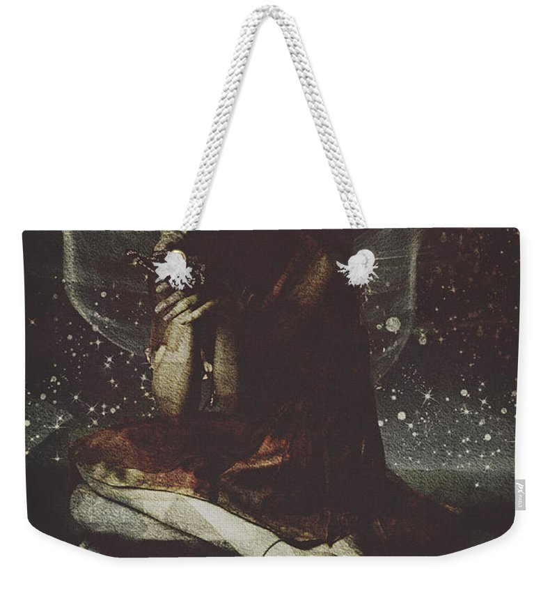 Fairy Weekender Tote Bag featuring the digital art Fairy The Rest by Galen Valle
