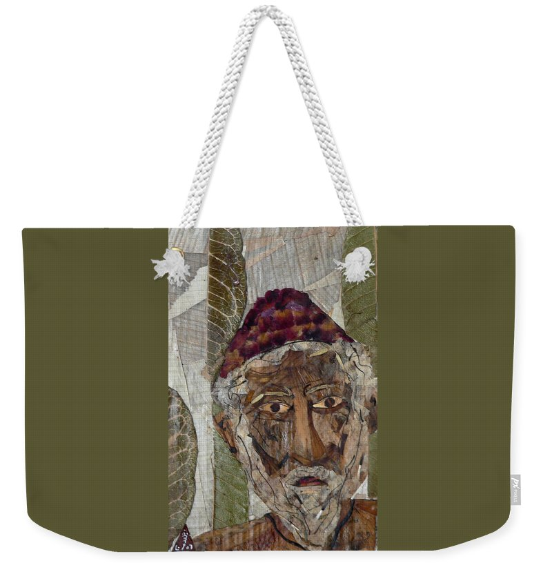 Portrait.holy Person Portrait Weekender Tote Bag featuring the mixed media Fakeer by basant Soni