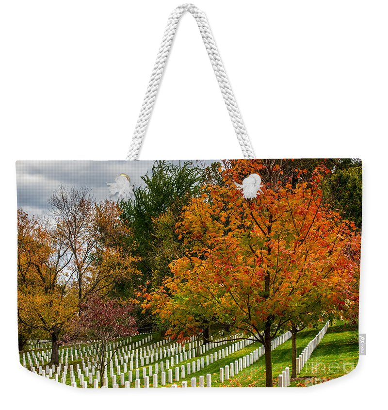 Arlington National Cemetery Weekender Tote Bag featuring the photograph Fall Arlington National Cemetery by Gary Whitton
