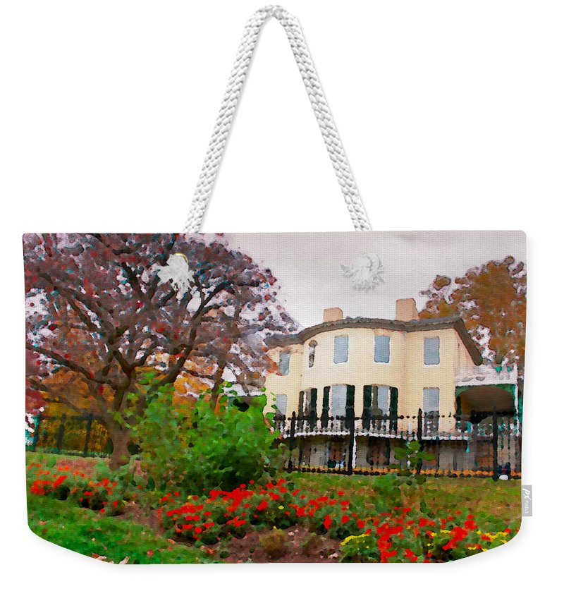 Lemon Hill Weekender Tote Bag featuring the photograph Fall At Lemon Hill by Alice Gipson