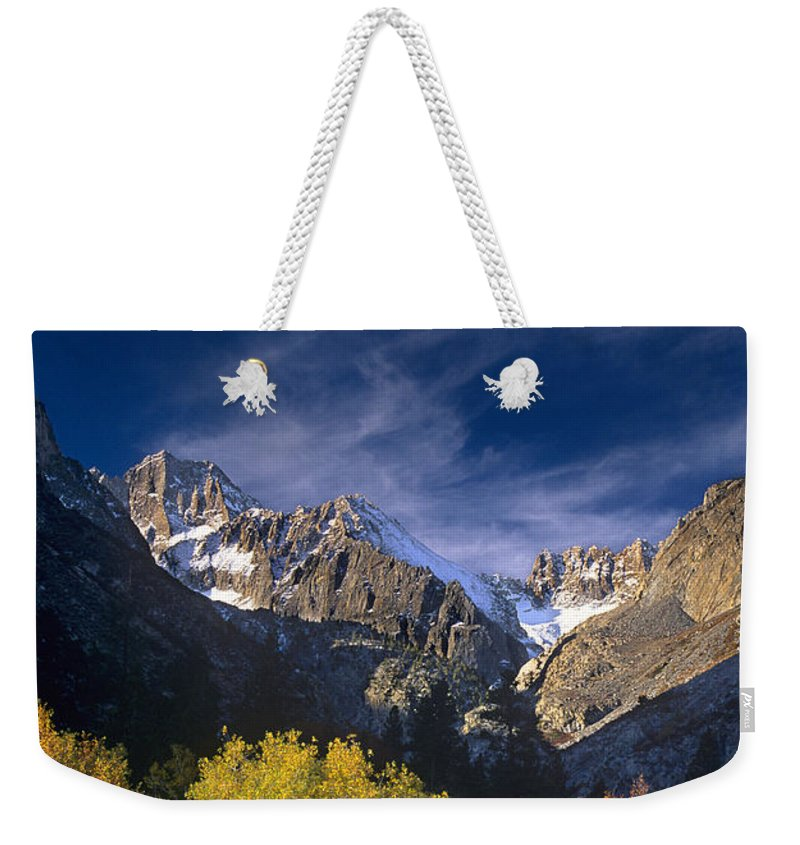 California Weekender Tote Bag featuring the photograph Fall Color Below Middle Palisades Glacier Eastern Sierras California by Dave Welling