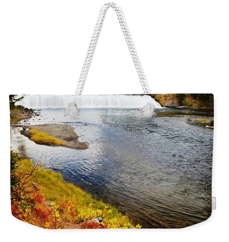 Waterfalls Weekender Tote Bag featuring the photograph Fall Colors And Waterfalls by Deanna Cagle