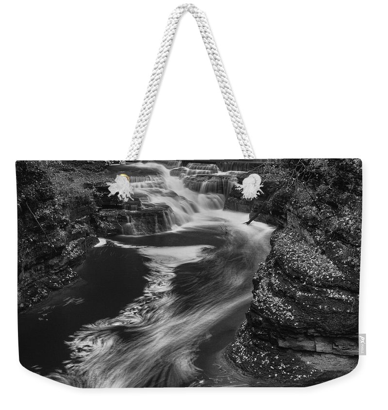 Michele Weekender Tote Bag featuring the photograph Fall Creek Flow II by Michele Steffey