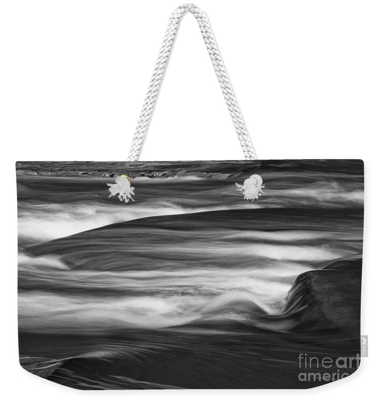 Michele Weekender Tote Bag featuring the photograph Fall Creek Flow by Michele Steffey