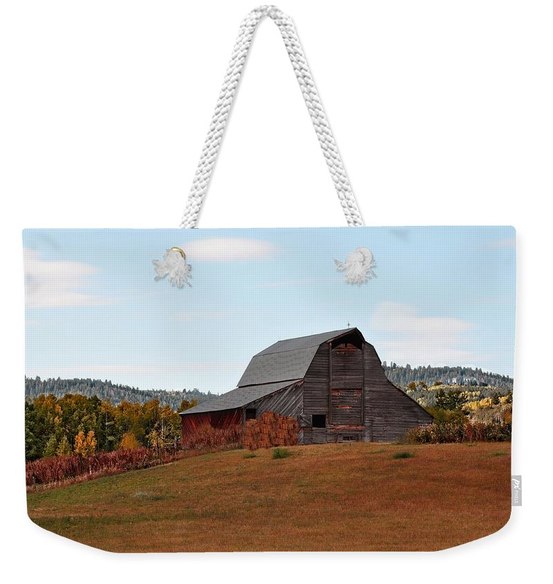 Barn Weekender Tote Bag featuring the photograph Fall by Image Takers Photography LLC